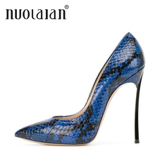 2018 Ladies Shoes High Heels Woman Sexy Party Sandals High Heel Shoes Women Platform Pumps Womens Snake Printed Leather Big Size цены онлайн
