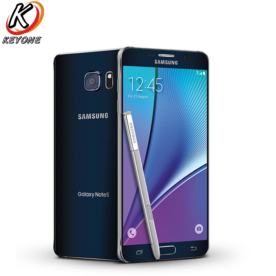 AT & T version Samsung Galaxy note 5 Note5 N920A 4g LTE Mobile Téléphone 5.7 pouce 4 gb RAM 64 gb ROM Octa Core 16MP Caméra Unique SIM