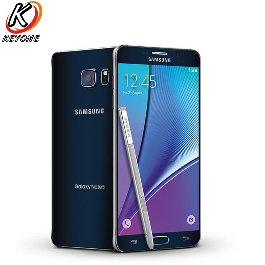 Versione AT & T Samsung Galaxy note 5 Note5 N920A 4g LTE Mobile Phone 5.7 pollice 4 gb di RAM 64 gb ROM Octa Core 16MP Camera Singola SIM