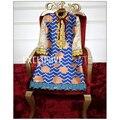 2016 Nuevo Diseñador de la llegada Vestido de Pasarela de Moda de Manga Larga de Alta Calidad de Las Mujeres Magnífico Elegante Vestido de Lentejuelas de Rayas