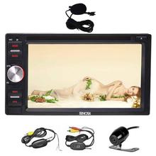 """Quad Core Android6.0 Car Stereo 6.2"""" Touch Screen Double Din Car Player In Dash GPS Navigation Receiver+Wirelese Backup Camera"""