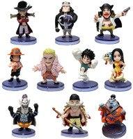 10 шт./компл. One Piece Луффи Ace Боа Хэнкок doflamingo фигурку ПВХ Коллекция Модель игрушки Brinquedos для подарок на Новый год
