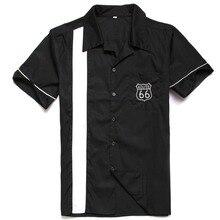 Cómoda camisa de algodón de estilo nuevo con bordado rockabilly hiphop vintage camisa de fiesta camisas para cenar ropa