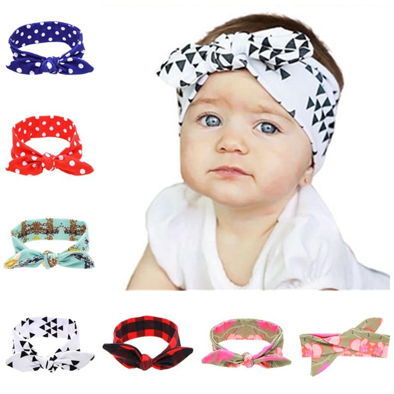 ᐃ10 unids/lote bebé lazo nudo algodón hecho punto niños Niñas ...