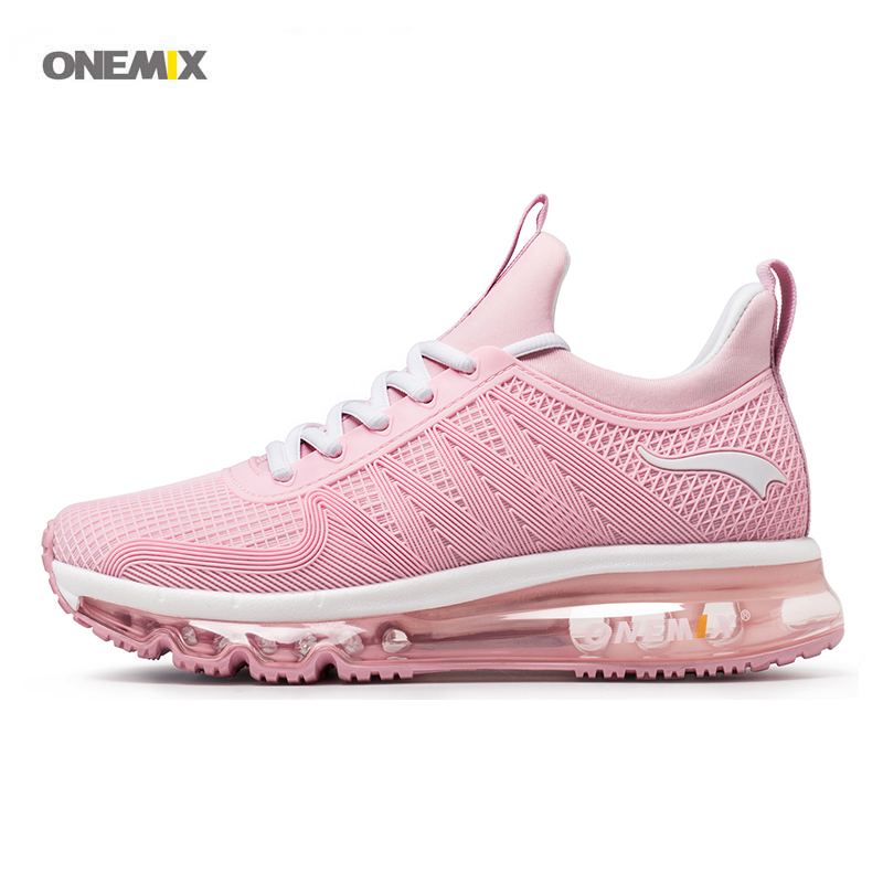 ONEMIX 2017 New Arrive Women's sports running shoes air run mesh breathable royal high top lace-up exercise sneaker 1191 breathable mesh patchwork plain lace up sports shoes