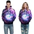 Moda marca hombres sudadera con capucha de algodón de impresión 3d con capucha suéteres galaxy espacio mens clothing sudaderas hip hop pullover