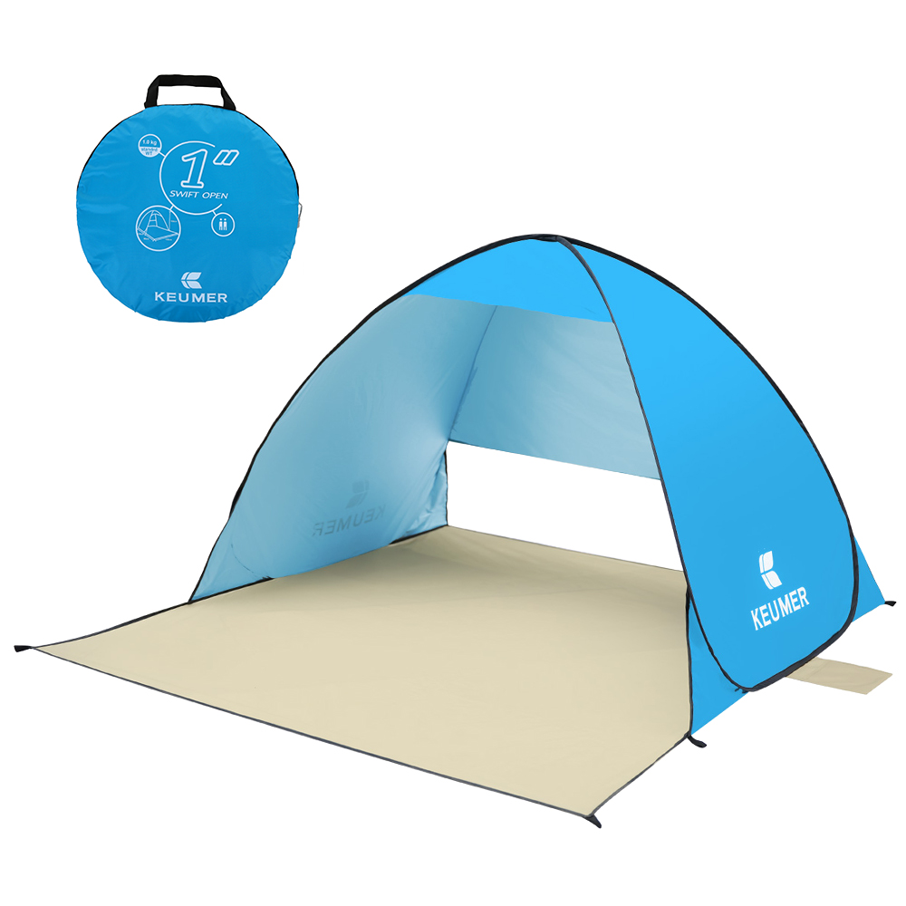 KEUMER Anti UV Beach Tent Outdoor Automatic Tent Instant Pop Up Open Camping Tent Portable Sun Shelter for Summer Fishing Picnic