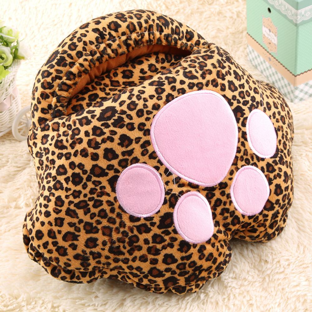 Big Foot Warm Heating Pad Slippers Warm Leopard Print Cartoon USB Foot Warmer Shoes Computer Electric Heat Slipper