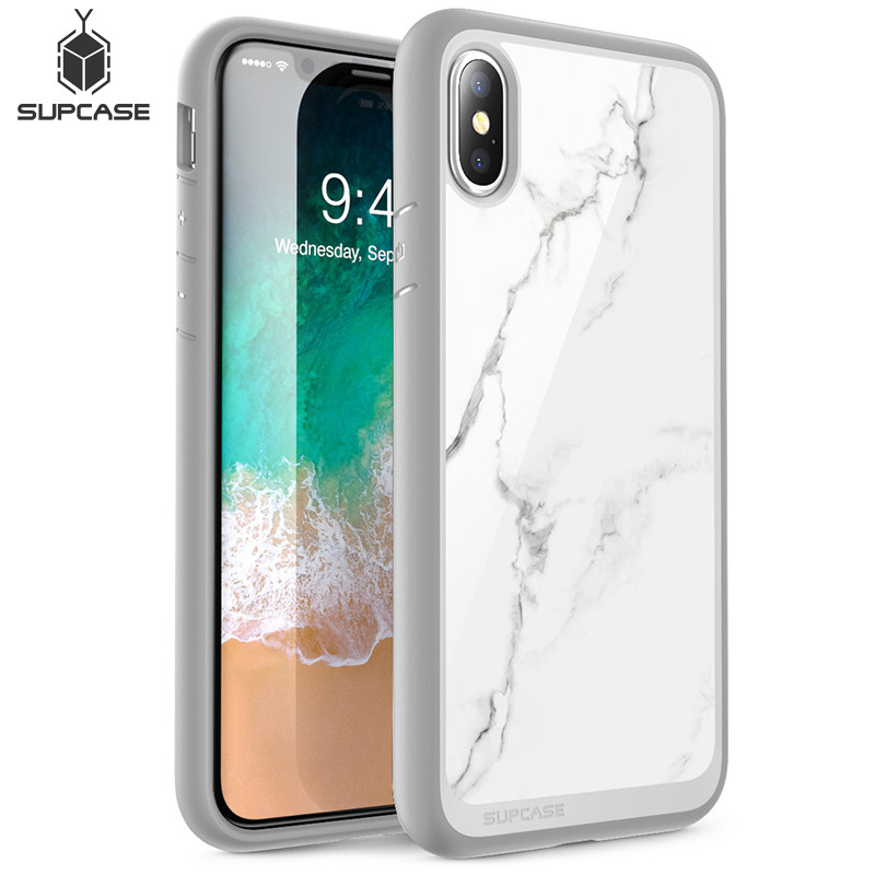 For Iphone Xs Max Case 6.5 Inch SUPCASE UB Style Premium Hybrid Protective TPU Bumper Marble Back Cover For Iphone XS Max Case