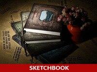 288 Pages European Vintage Hardcover Sketchbook Draw Sketch From Nature Varies Color For Chosen Sketch Book