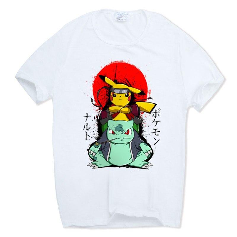 2017 S-XXXL Männer Und Frauen Druck Naruto Pokemon Ninja Anime Cartoon Lustige T-shirt kurzhülse Oansatz Sommer T-shirt HCP1038