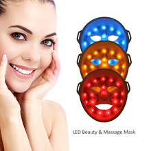 Photon led skin rejuvenation whitening and acne care mask in facial treatment