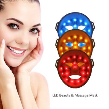 Photon led skin rejuvenation skin whitening and acne skin care led mask in facial treatment led mask face massage device