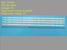 หรือSony TV KDL 40R380D 40PFL3240 GJ DLEDI (ชุดใหม่) 4 PCS 9LED 798 มม.LED Backlight Strip Fi P5 400 D409 V7 TPT400LA J6PE1