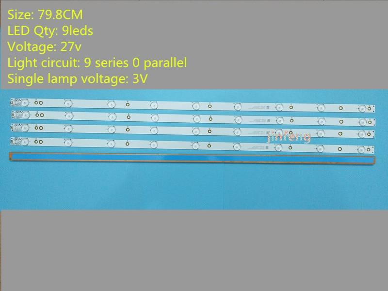 Or Sony TV KDL-40R380D 40PFL3240 GJ-DLEDI(New Kit) 4 PCS 9LEDs 798mm LED Backlight Strip FI P5-400-D409-V7 TPT400LA-J6PE1