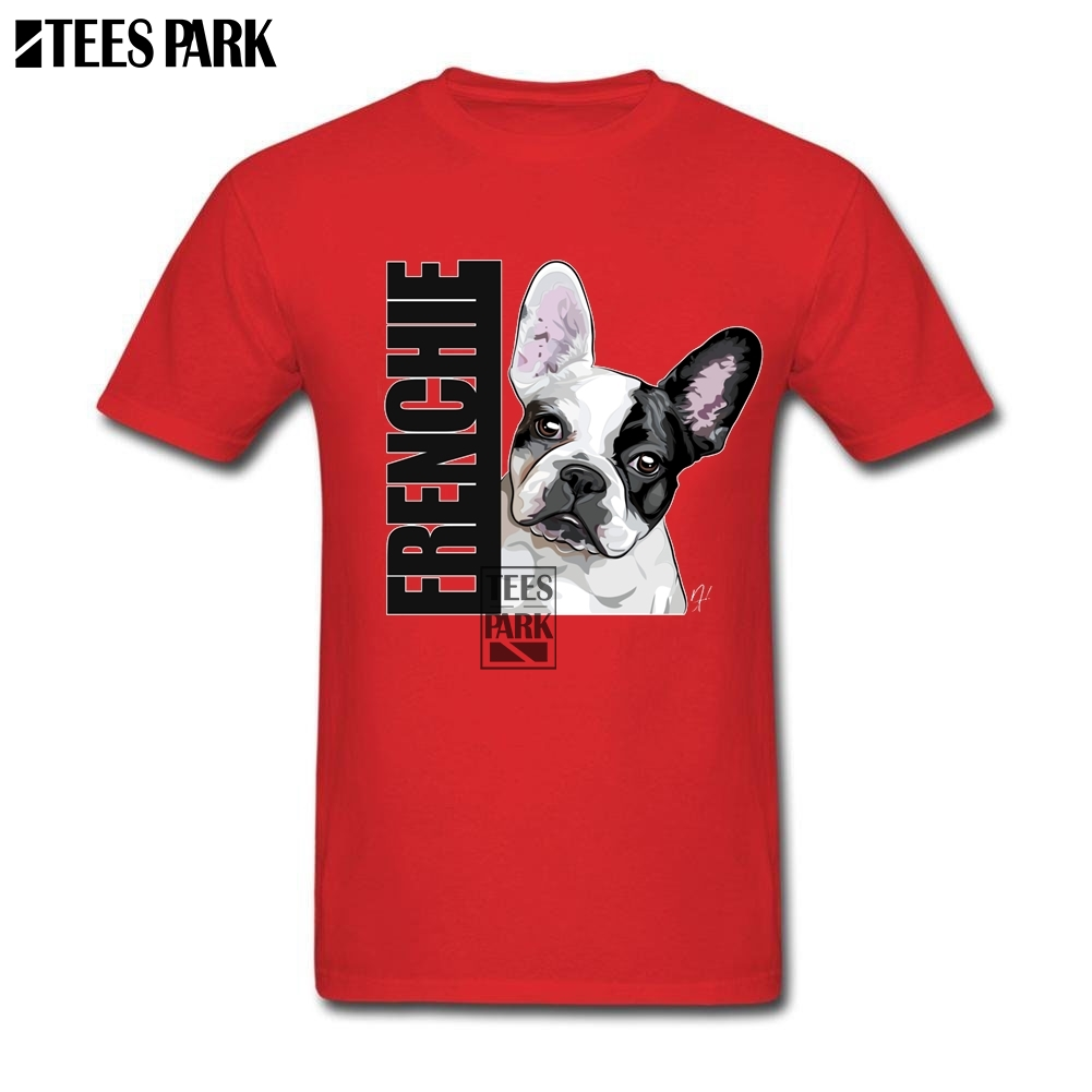 Frenchie French Bulldog Cool Tees Man Cotton Short Sleeve T-Shirt Men Teenage Personnaliser T Shirt Wholesale Discount Clothing