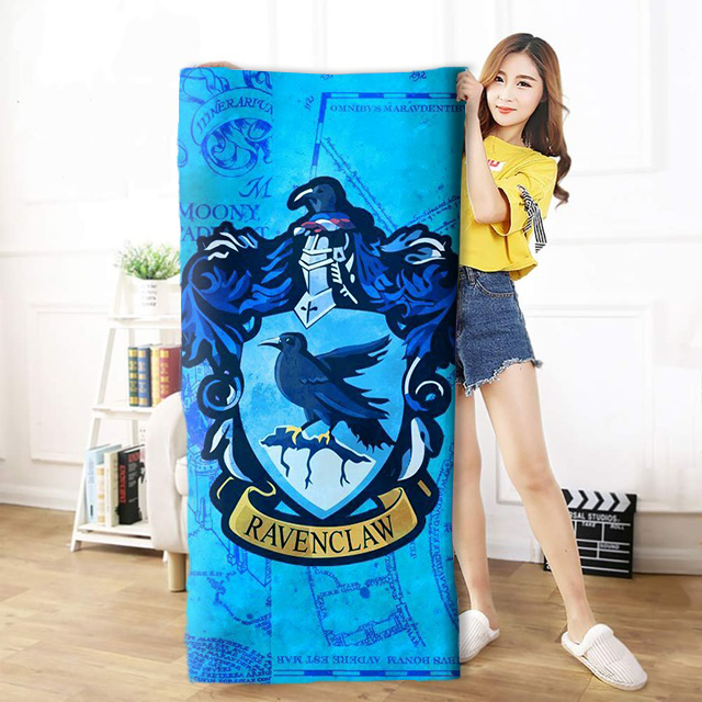 OHCOMICS 30*60cm/50*100cm/70*140cm Harri Potter HP Ravenclaw School Travel Towel Swimming Soft Soothing Cotton Face Bath Towel