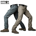 Summer Militar Rip-Stop Waterproof Tactical Pants Men Camouflage Military Cargo Pants Teflon Thin Outdoors Army Combat Trousers