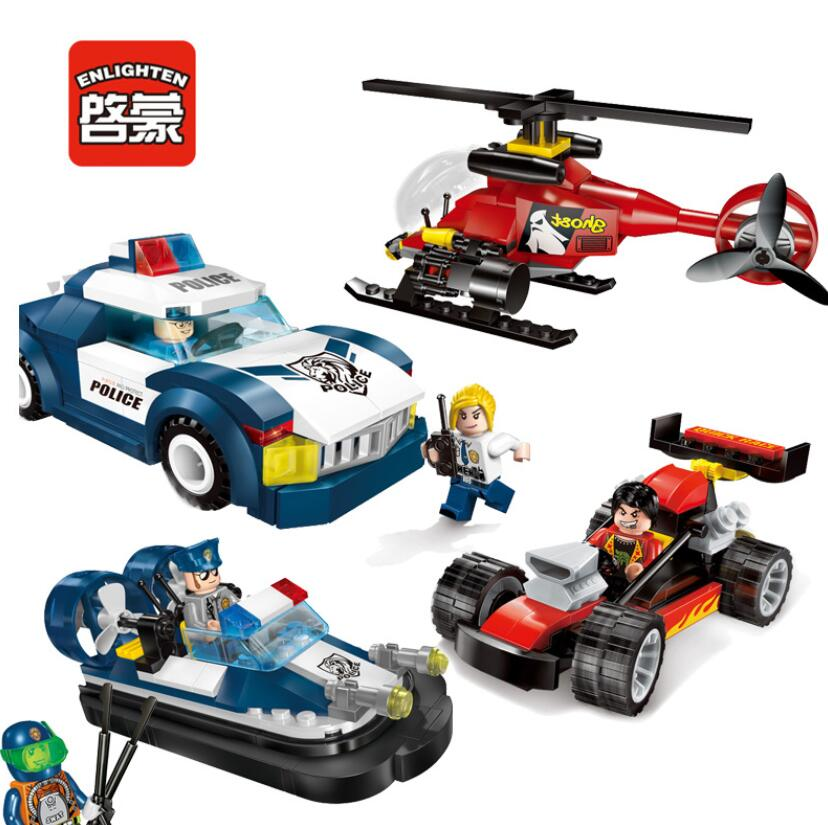 2017 Enlighten New Police Series Building Block sets Bricks Toys Gift For Children Compatible With Lepin 2017 enlighten city series garbage truck car building block sets bricks toys gift for children compatible with lepin
