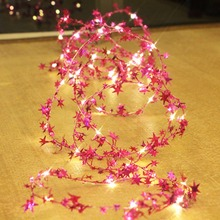 5M 50 led star garland string twinkle fairy flash lights light for christmas xmas holiday garden tree party wedding decoration
