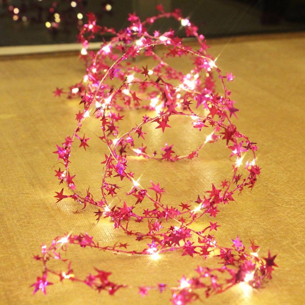 5 متر 50 led ستار الطوق سلسلة وميض جنية أضواء فلاش ضوء لعيد الميلاد عيد الميلاد حديقة شجرة شجرة حفل زفاف الديكور