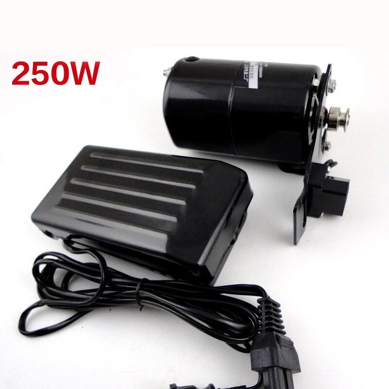 Оптовая торговля швейной машины мотор 250 Вт 220 В 12500 об/мин двигателя для швейной машины с педалью аксессуары ручной работы