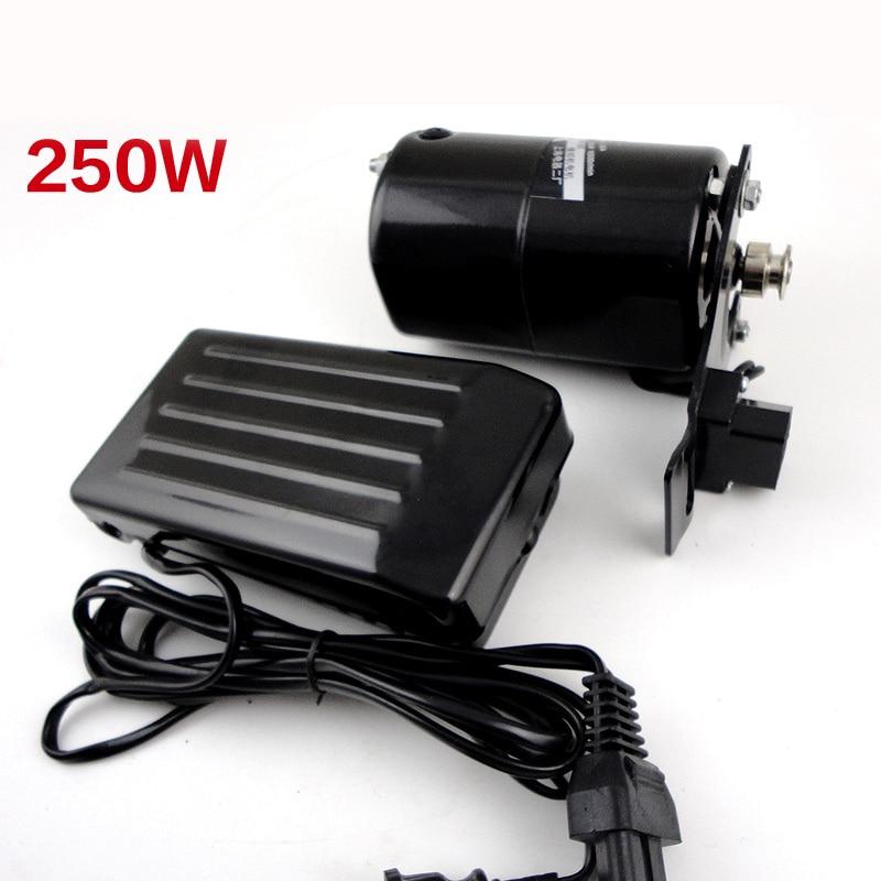 Großhandel nähmaschine motor 250 Watt 220 v 12500 r/min motor für nähmaschine mit fußpedal Handarbeit zubehör