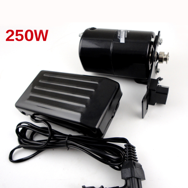 Motor de máquina de coser al por mayor 250 W 12500 V 220 r/min motor para máquina de coser con accesorios de mano de pedal