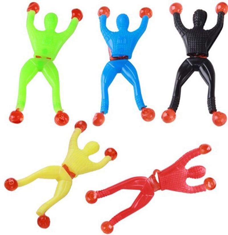 100 pcs/lots Climbing <font><b>Spider-Man</b></font> action figure toys Cabinets doors walls glass Creative <font><b>Classic</b></font> Toys educational spiderman toys