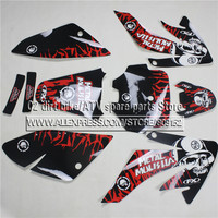 3M Decals Emblems Stickers Graphics Kit For Honda CRF70 DHZ SSR SDG pit dirt Bike Metal Mushalia Style