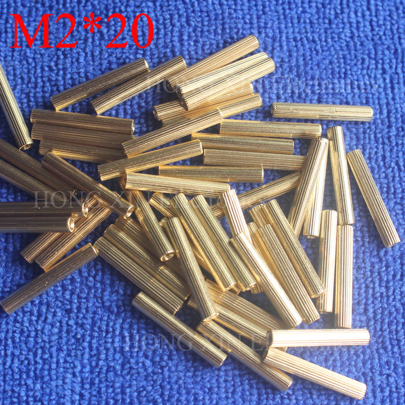 M2*20 1Pcs Brass Spacer Standoff 20mm Female To Female Standoffs column cylindrical High Quality 1 piece sale m2 4 3 1pcs brass standoff 4mm spacer standard male female brass standoffs metric thread column high quality 1 piece sale