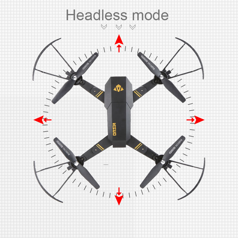 Visuo XS809W XS809HW Quadcopter Mini Foldable Selfie Drone with Wifi FPV 2MP Camera Altitude Hold RC Dron Vs JJRC H47 E58 3