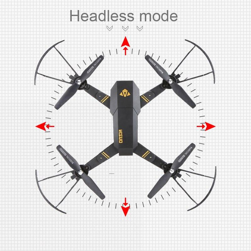 Visuo XS809W XS809HW quadrirotor Mini Pliable Drone selfie avec Wifi FPV 0.3MP/2MP CAMÉRA Maintien D'altitude RC Dron Vs JJRC h47 E58 - 4