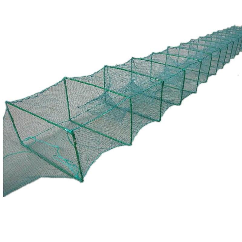 Forte telaio 9 m-12 m 27 tratti di pesce gabbia di rete da pesca attrezzo esterno rosso de pesca rete da pesca gamberetti gabbia granchio gabbia armadilha