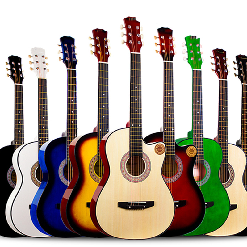 Special Veneer Acoustic Guitar 38 Inch Hollow Body Musical Instruments Professional 6 String Rose-wood Fingerboard Violao Stock Beneficial To Essential Medulla Stringed Instruments Guitar