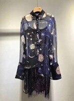 Шелкопряда шелк Заказная ткань очень дизайн soul рубашка импортные кружево слинг 0311