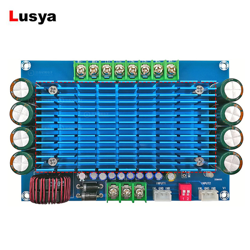 Power Amplifier Board TDA7850 50W*4 Switchable Channel Super Power Audio Aamplifier Board For Car DC 12V XH M180 G1 011