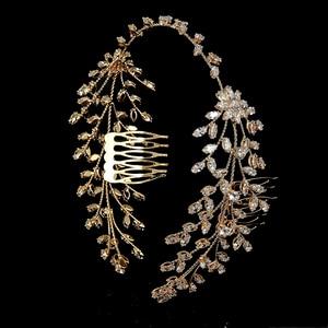 Image 5 - Tiaras And Crowns HADIYANA New Fashion Wedding Hair Accessories Charming Luxury Elegant For Women Zircon BC4860 Accesorios Mujer