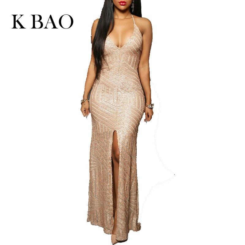 Buy 2017 Evening Party Dress Sexy Sheath Long Dresses Black Gold Shiny Strap Halter Women Maxi Dress Female Party Dress