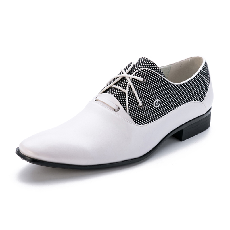 Italian Fashion Mens Oxford Shoes Derby Men's White/Black/Brown/ Wedding Party Luxury Dress Shoes Male Office Shoes 2016 luxury mens goodyear welted oxfords shoes vintage boss brogue shoes italian mens dress shoes elegant mens gents shoes derby