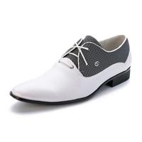 Włoski Mody Męskie Buty Oxford Derby męska Biały/Czarny/Brązowy/Wesele Luksusowy Sukienka Buty Męskie Buty biurowe