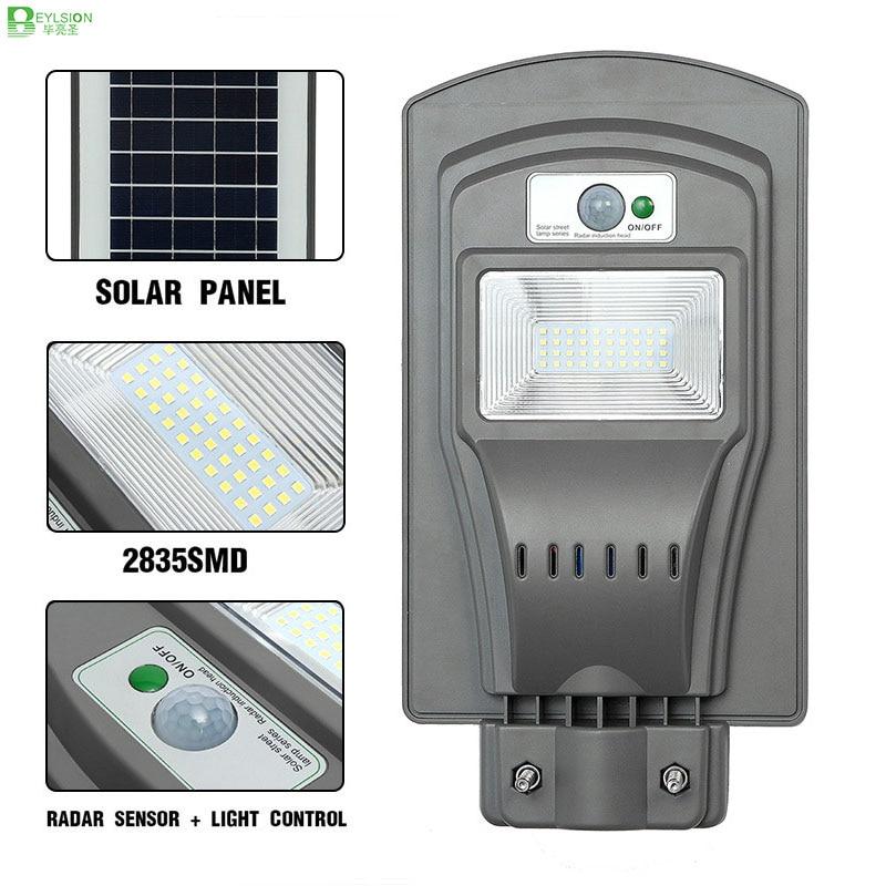 BEYLSION 20W 40W 60W Solar Street Lights Solar LED Light Solar Light Street LED Solar Outdoor LED Solar Light Radar Sensor