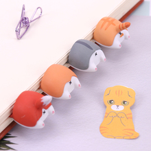 Lovely Cartoon Dog Hamster Fox Ass Bookmarks Novelty Book Reading Item Creative Gift for Kids Children Stationery mr paper 8 colors high quality pu leather bookmarks for novelty book reading maker page creative vintage style pu bookmarks