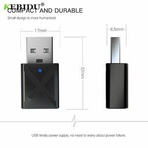 Image 4 - KEBIDU receptor USB con transmisor Bluetooth 5,0, adaptador inalámbrico de Audio, música, estéreo, Dongle para TV, PC, audífonos con Altavoz Bluetooth