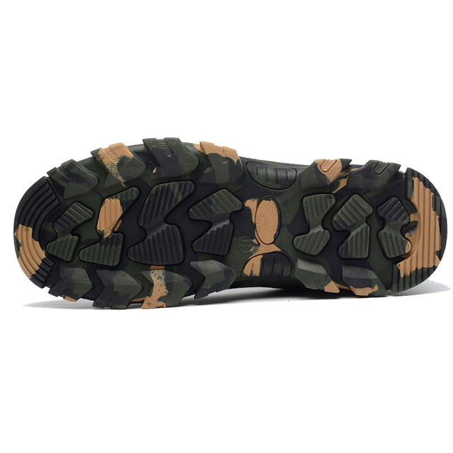 Construction Men's Outdoor Plus Size Steel Toe Cap Work Boots Shoes Men Camouflage Puncture Proof Safety Shoes Breathable 4