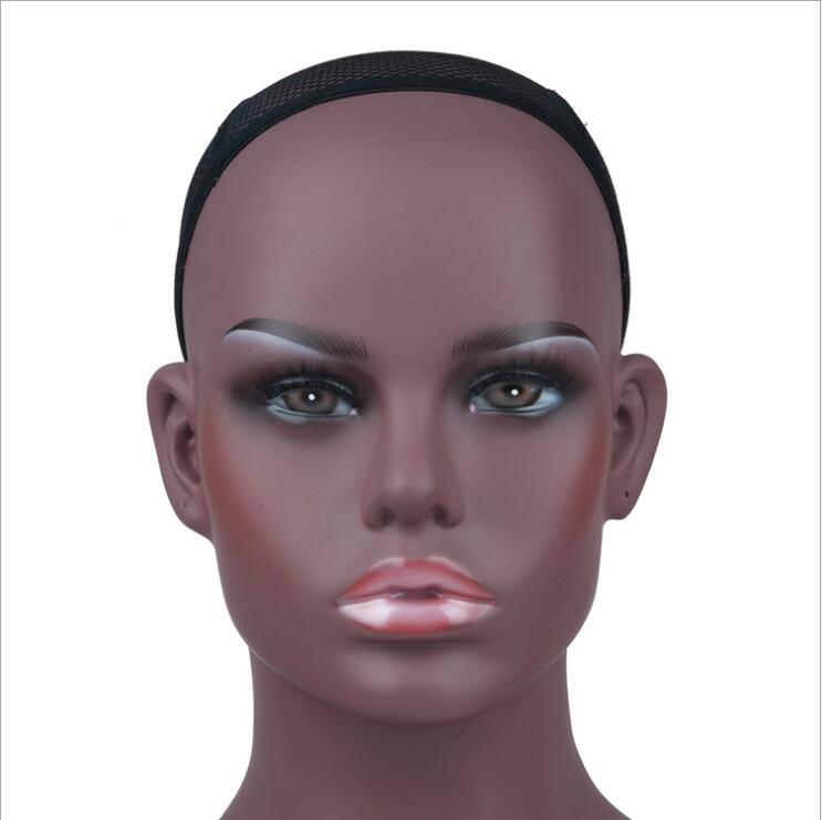 Afro-Americanos do Sexo Feminino Realista Manequim Cabeça