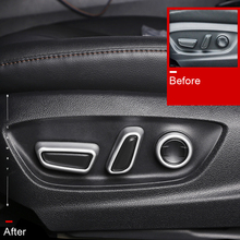 For Toyota RAV4  2019 2020 ABS auto Car Styling Interior Accessories Seat Adjustment Buttons Cover Trim 6PCS