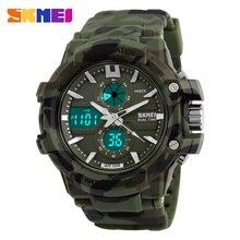 Sport Montre SKMEI Hommes Numérique LED En Plein Air Étanche Double Affichage montre Militaire Army men quartz étanche relogio masculino