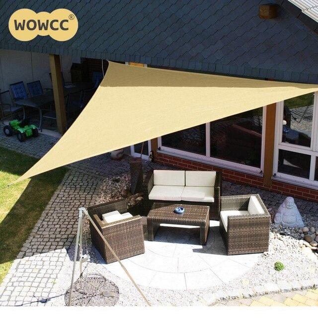 3m Outdoor Sun Shelter Waterproof Awning Triangle Tent Canopy Garden Beach Picnic Camp Shade Tarp Travel Sunshade Gazebo