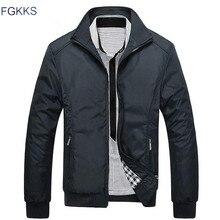 FGKKS nouveau printemps mode veste hommes lâche décontracté hommes veste Sportswear Bomber veste hommes vestes et manteaux